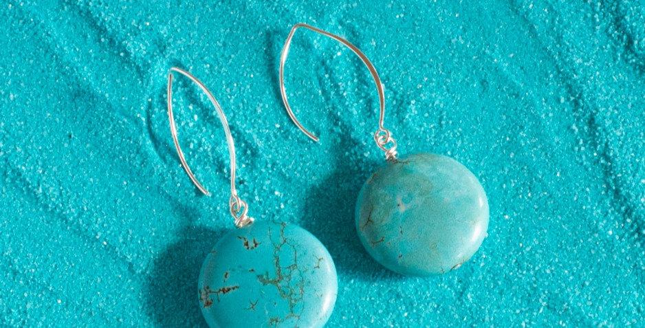 Turquoise Stone Drop