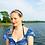 Thumbnail: Freshwater Pearl Turquoise Hoop