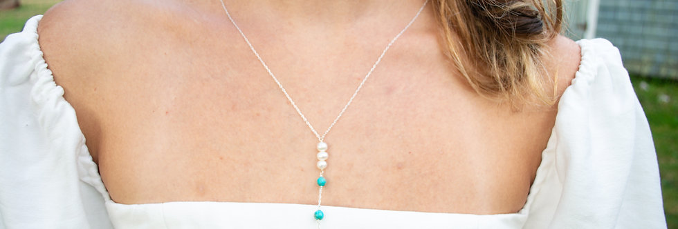 Freshwater Pearl Jasper Necklace