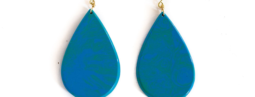 Blue Turquoise Teardrop