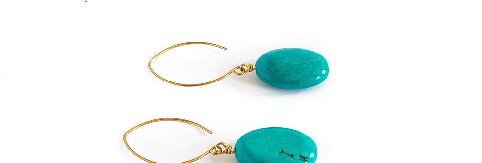 Turquoise Drop Gold