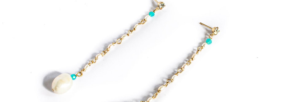 Freshwater Pearl Turquoise Drop