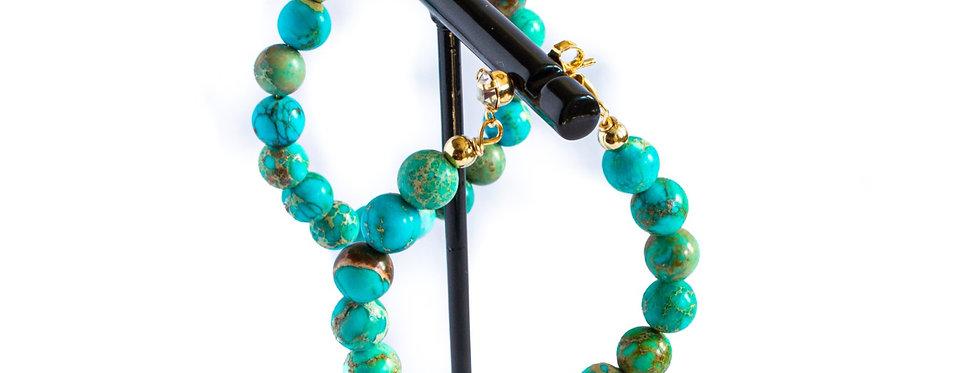 Turquoise Jasper Hoop