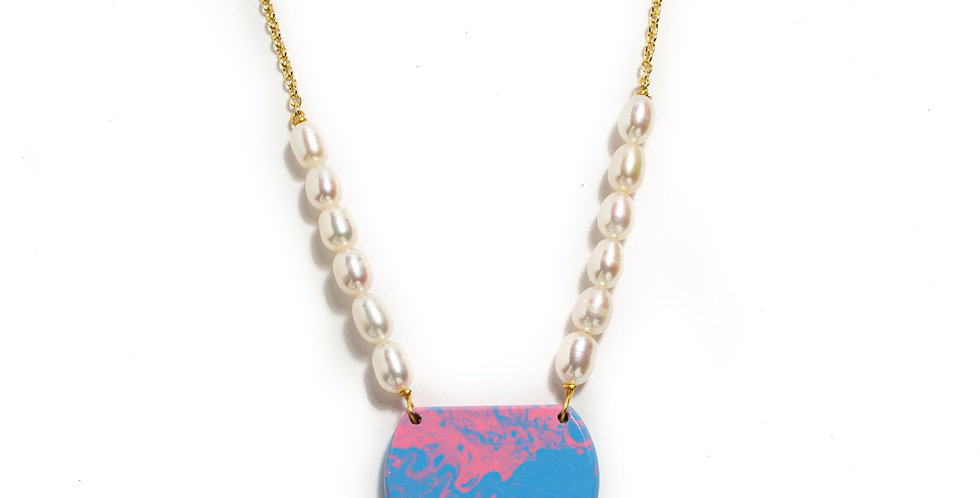 Cotton Candy Pearl Necklace