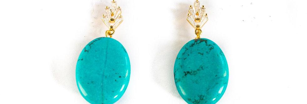 Turquoise Cubic Zirconia Drop