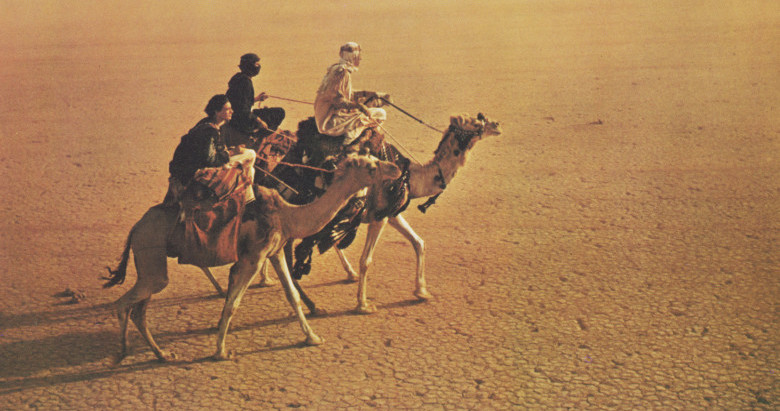 Almost all the movement in LAWRENCE OF ARABIA goes from left to right