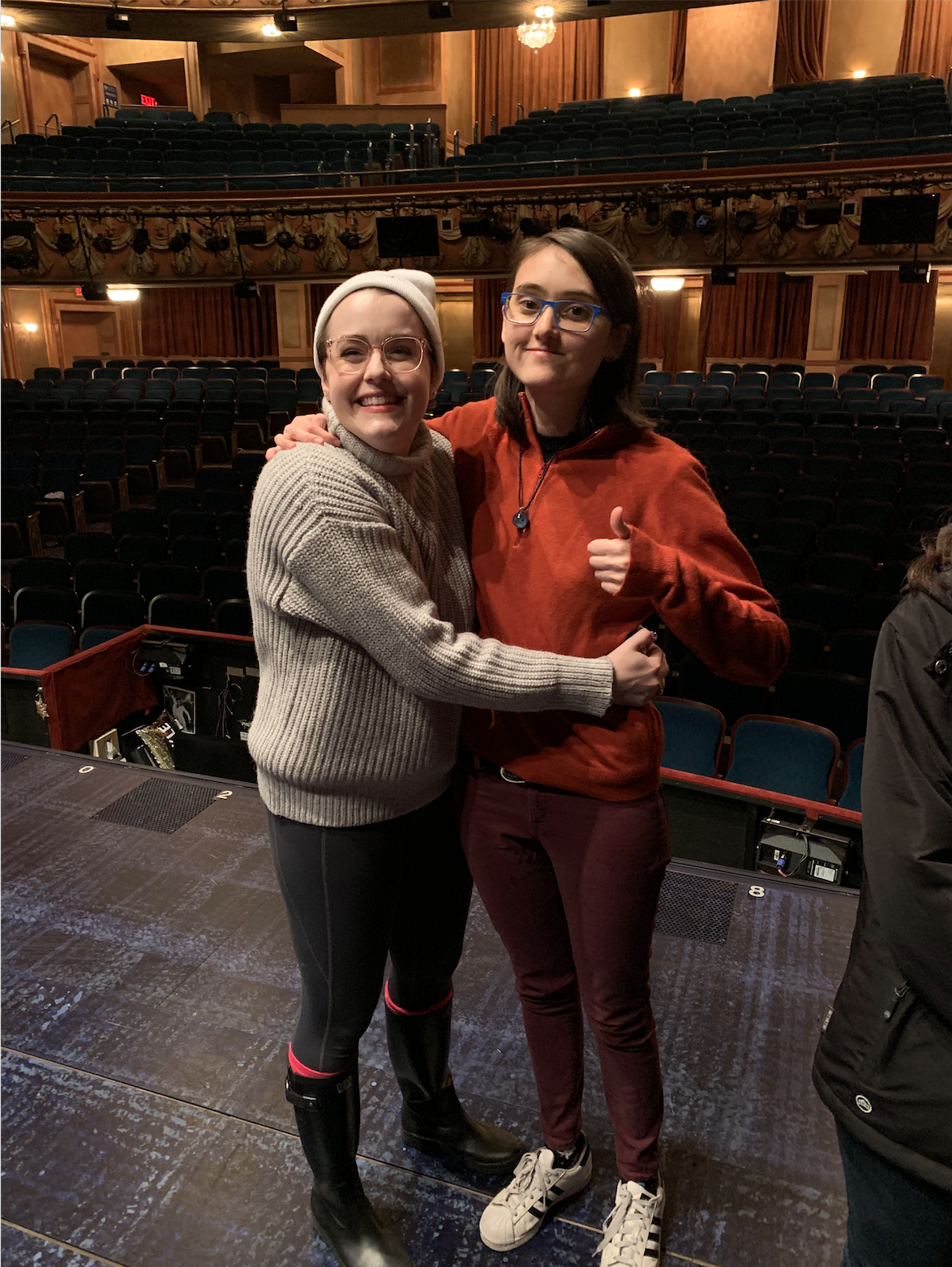 Broadway debut with Caitlin Kinnunen