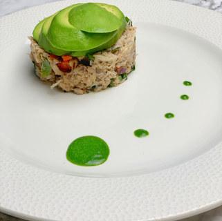 Crab & avocado stack