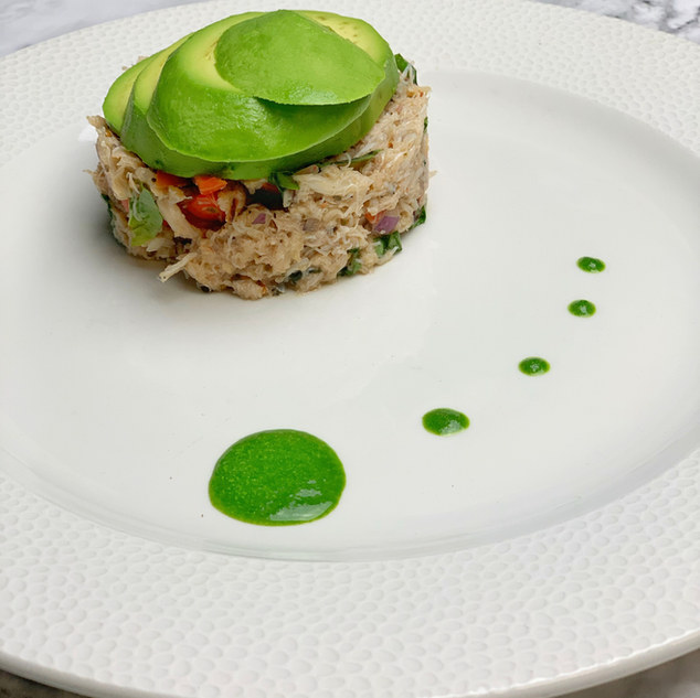 Crab & avocado stack