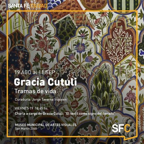 2016. Gracia Cutuli. Tramas de vida.