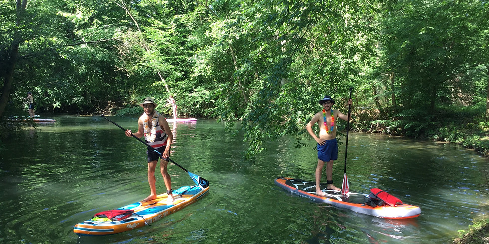 Stand up paddle sur le Rhin Tortu