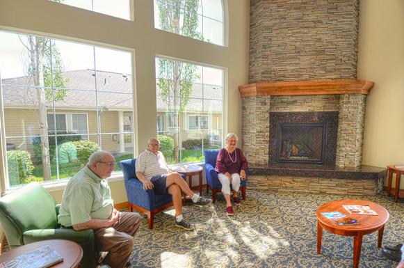 Evergreen Fountains Fireplace