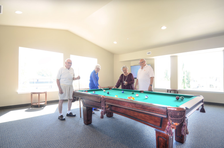 Evergreen Fountains Pool Table in Sports and Game Room