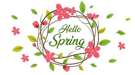 hello-spring-circle-spring-sale-backgrou