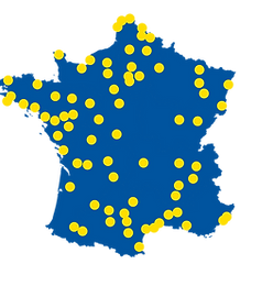 carte bleue points jaunes 03 2021 + Agen