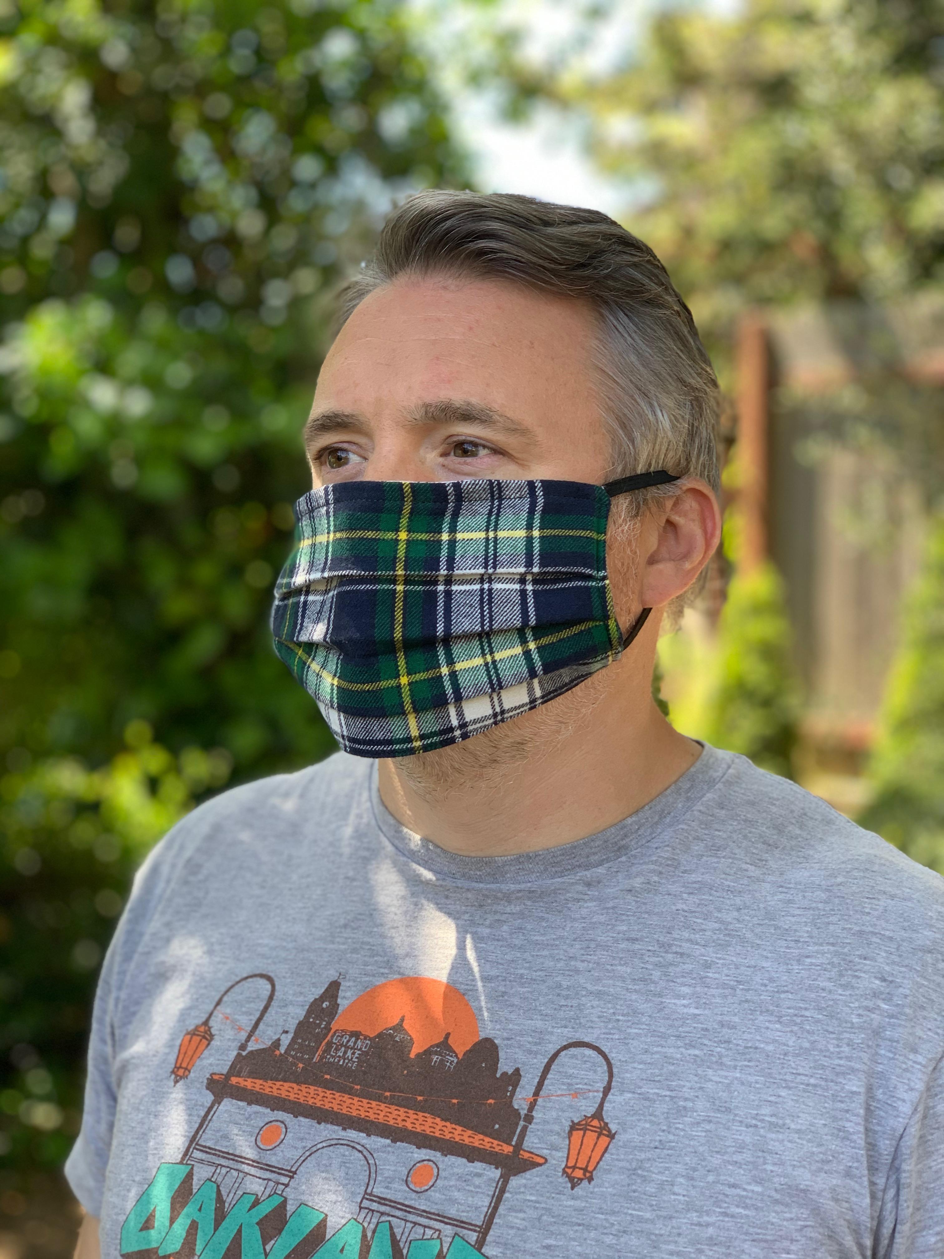 Simple Face Mask - Plaid