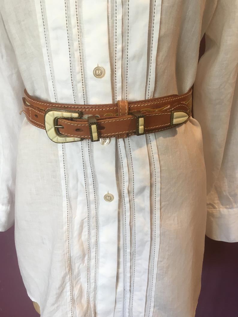 Sergio Pucci Italian Leather Belt