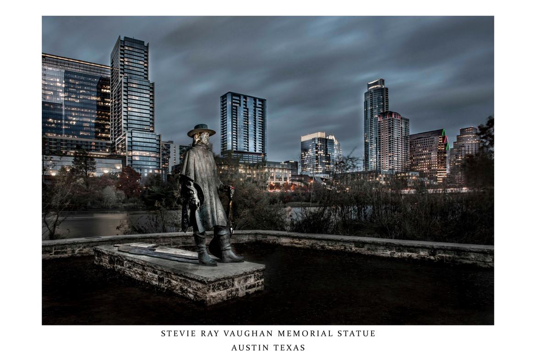 Stevie Ray Vaughan Memorial Statue