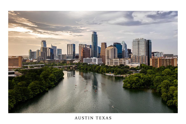 Austin Texas Ladybird Lake Downtown Skyline