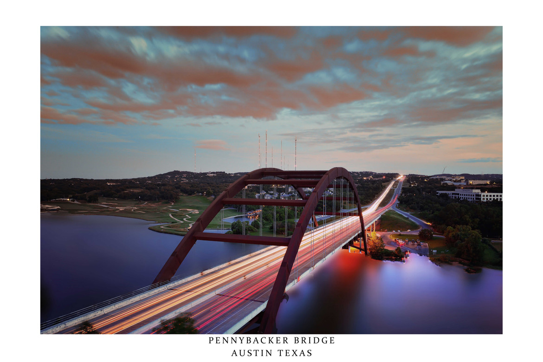 Pennybacker Bridge Rush Hour at Sunset