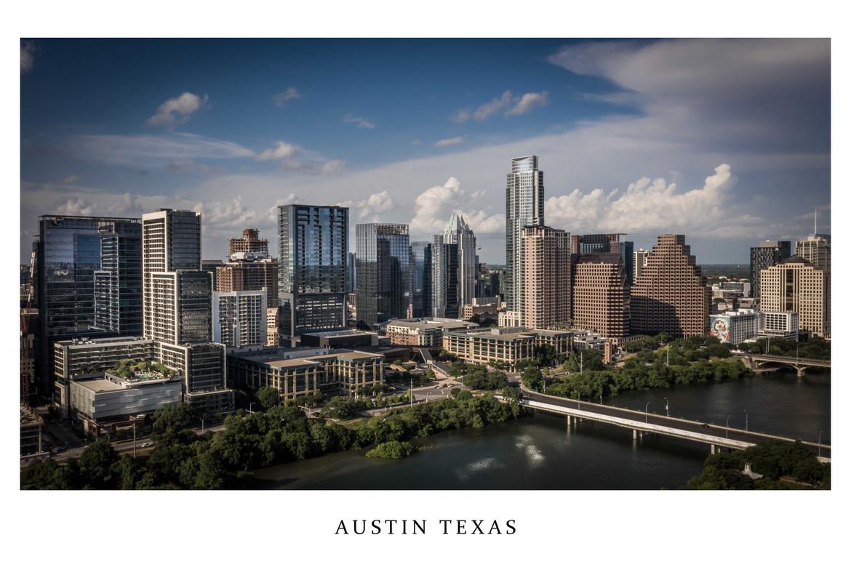 Austin Texas Skyline From Zilker Park