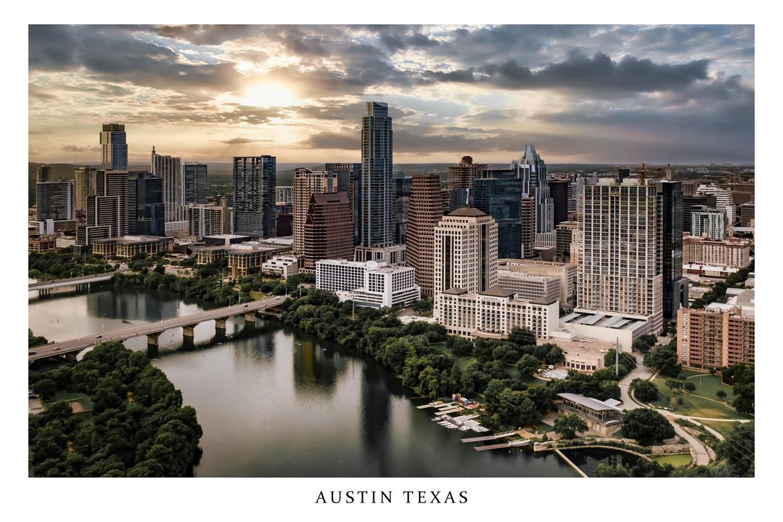 Austin Texas Skyline Town Lake Boardwalk