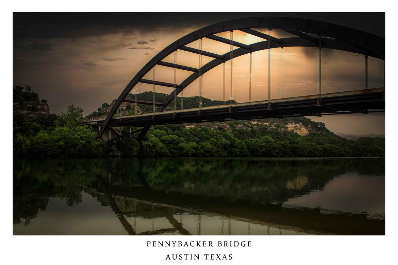 Pennybacker Bridge at Sunrise - Austin Texas