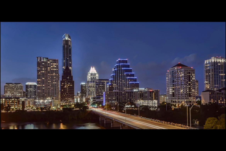 Congress Avenue Bridge At Night - Austin Texas