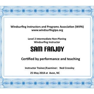 Level 2 Certificate - Well done Sam