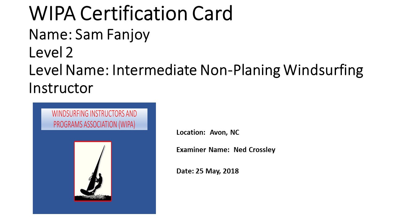 Electronic Certification Card