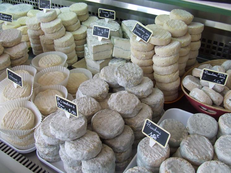 Une large gamme de fromages