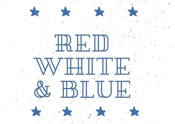 White with Texture and Blue and Red Star
