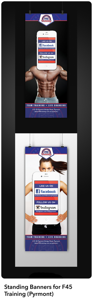 F45Pyrmont Standing Banners