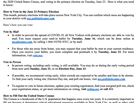 Primary Voting & Census Information