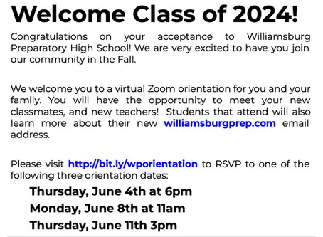 Class of 2024 Orientation