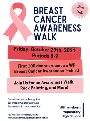 Breast Cancer Walk Flyer