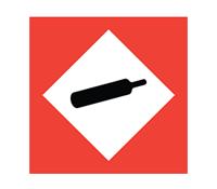 COSHH symbol - Gases under pressure