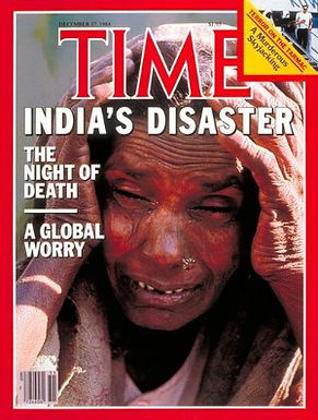 Time Magazine's Front Cover Bhopal, India Disaster