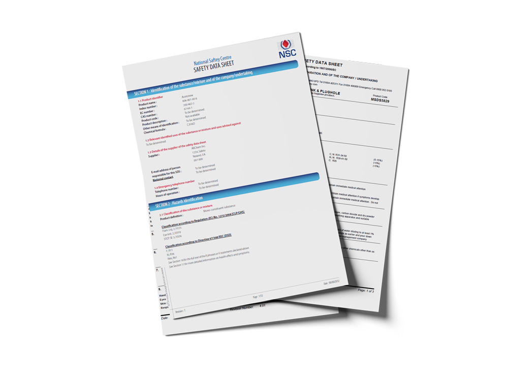 Safety data sheets are required for most chemicals and are need to be able to perform a proper COSHH risk assessment