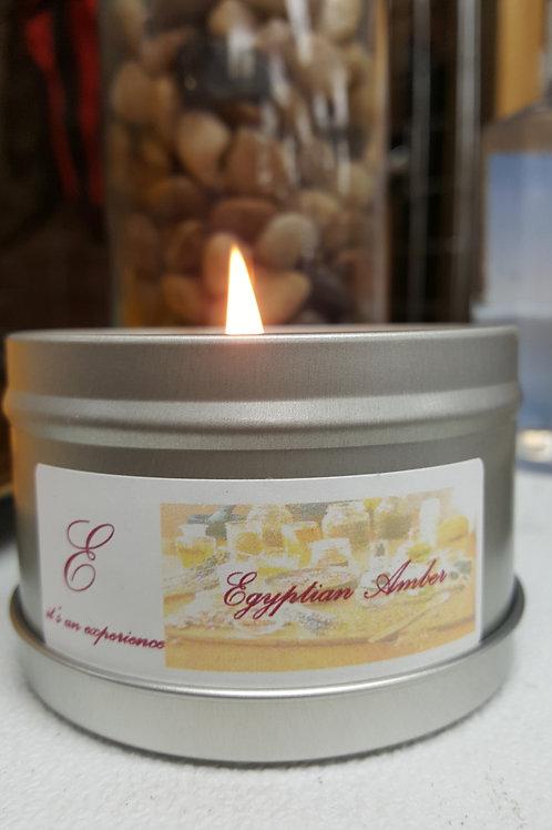 4oz Egyptian Amber Tin Candle