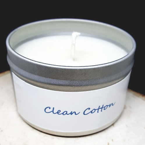 4oz Clean Cotton Tin Can Candle