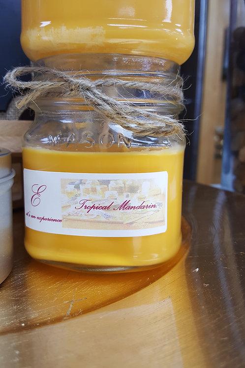 8oz Tropical Mandarin Mason Jar Glass Candle