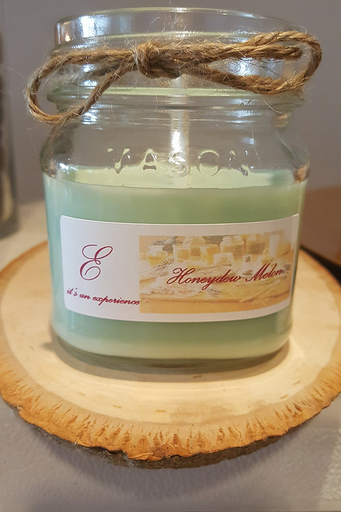 8oz Honeydew Melon Mason Glass Jar Candle