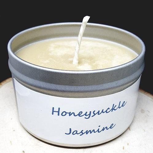 4oz Honeysuckle Jasmine Tin Can Candle