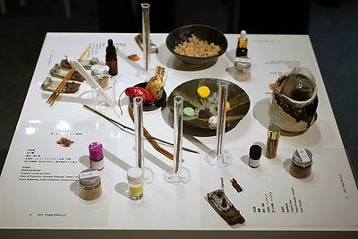 和の香りの展示物