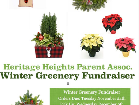REMINDER - Orders Due TUES. NOV 24th for Winter Greenery