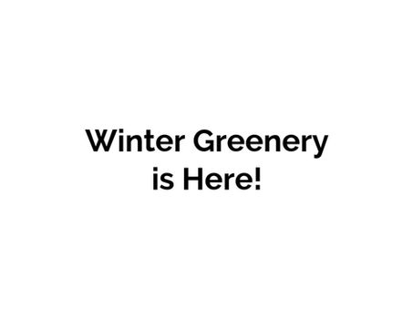 Winter Greenery Fundraiser!