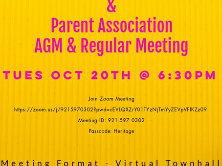 Council & Parent Association AGM / Regular Meeting