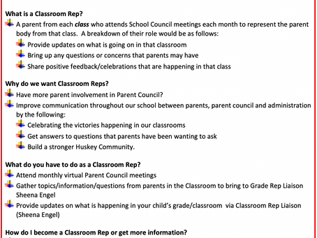 Looking for Classroom Reps!