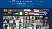 120 SSMI Lean Six Sigma Belt aspirants from 18 nations for Dr. Mikel J Harry Six Sigma Management In